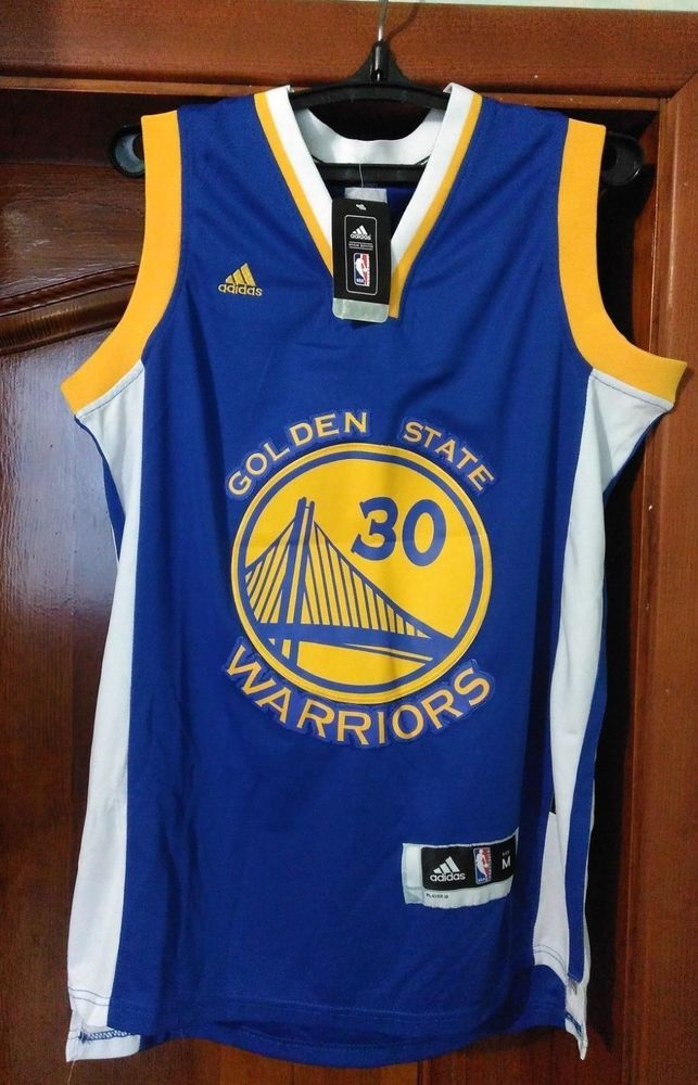low cost d592c 116d9 Golden State Warriors NBA Shirt Jersey Men Adidas size M #30 ...
