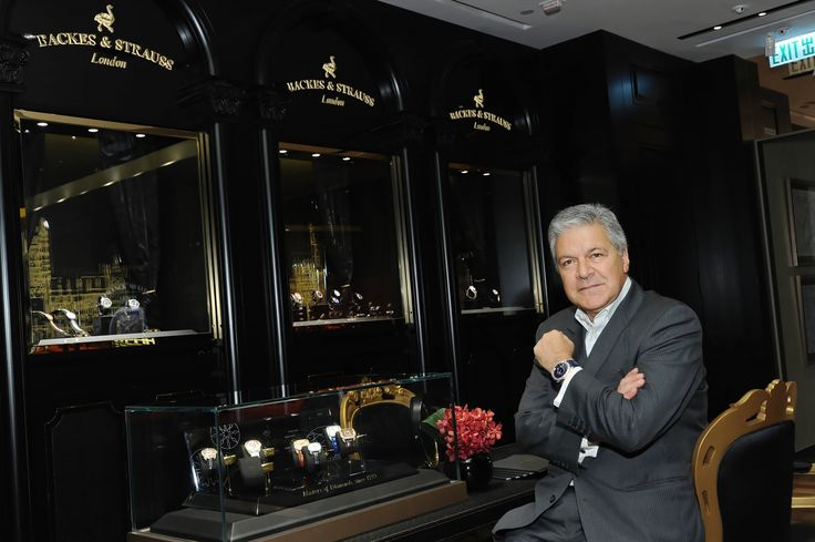 Mr Vartkess Knadjian inside the Backes & Strauss shop-in-shop.