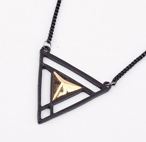 (Min order$10) Free Shipping!Europe and the United States hot fashion triangle all-match sweater chain!#92617 on AliExpress.com. $2.17