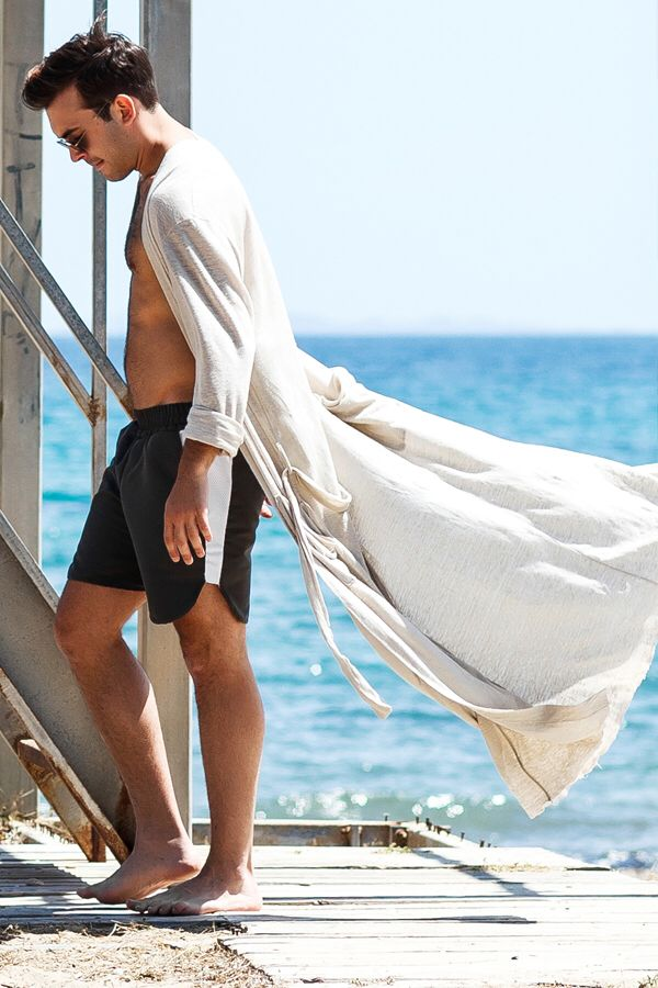 """Abati"" swim shorts & ""Lucca"" cardie #madeformen #menswear #beach #sun #sand #sea #sky #swim #swimming #swimshorts #cardigan #cardie #menswear #menstyle #homagetomanhood #potd #motd #ootd #dante #dantemen #summer #ss16 #dantemenswear #dantestyle #greece"