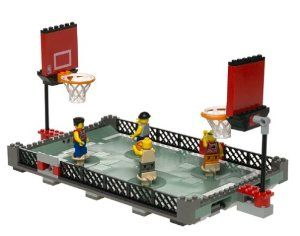 LEGO Sports - Streetball 2 vs 2 Set 3431 by LEGO. $229.90. Includes four NBA basketball player minifigures!. Gather the ball in your minifigure's arms, aim him toward the basket, press back on him and shoot the ball!. Includes three LEGO basketballs!. Contains 182 pieces, for ages 7-12. Play against a friend in this two-on-two LEGO playground basketball game!. Amazon.com                On the surface, there seems to be one inescapable problem with a LEGO NBA set. Doesn