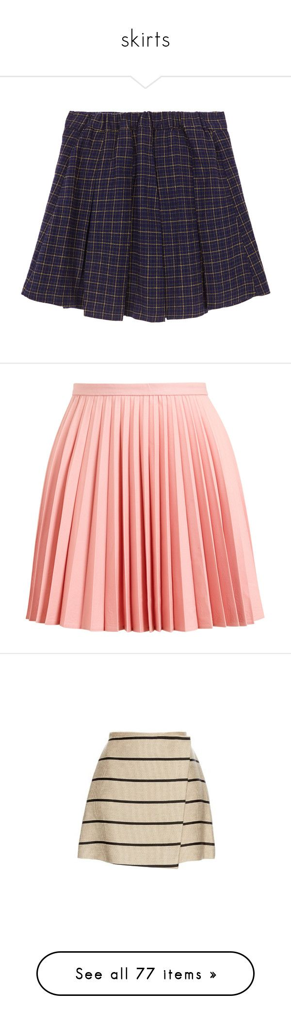 """""""skirts"""" by pasteldemerme ❤ liked on Polyvore featuring skirts, mini skirts, red, women, red mini skirt, superdry, red a line skirt, checkered skirt, mini skirt and bottoms"""