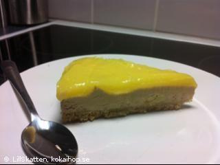 Recept - Cheesecake med lemoncurd