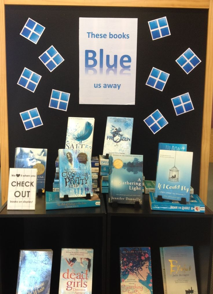 Library Displays: These books 'blue' us away!