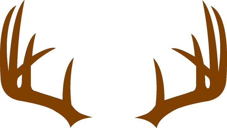 Deer Antler Monogram Frame SVG