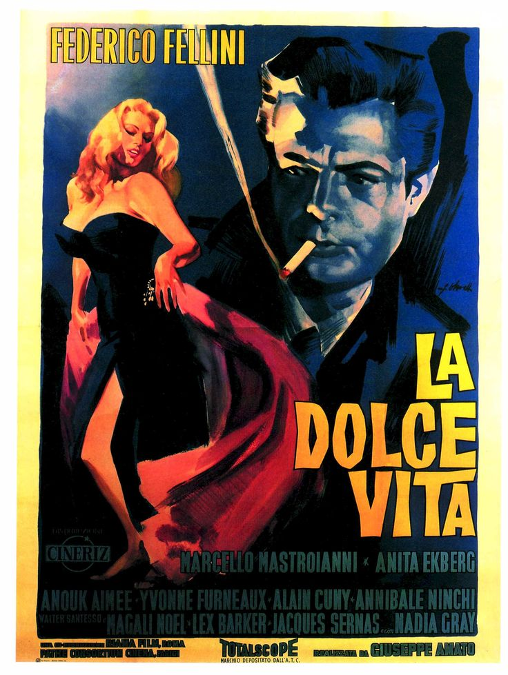 Fellini - first time I saw  this was in film studies class and it set my love for foreign films