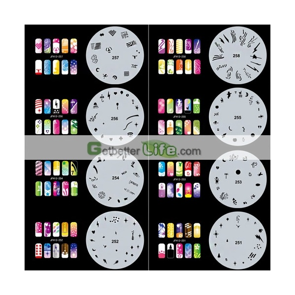 12 best nails airbrush images on pinterest flower beauty nails pro airbrush nail art paint stencil kit design set mj 001 nails designsnail prinsesfo Images