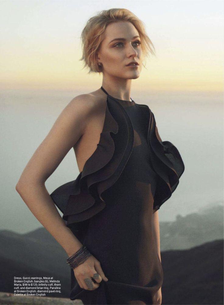 Evan Rachel Wood by Hilary Walsh for Cosmopolitan March 2013 wearing Gucci