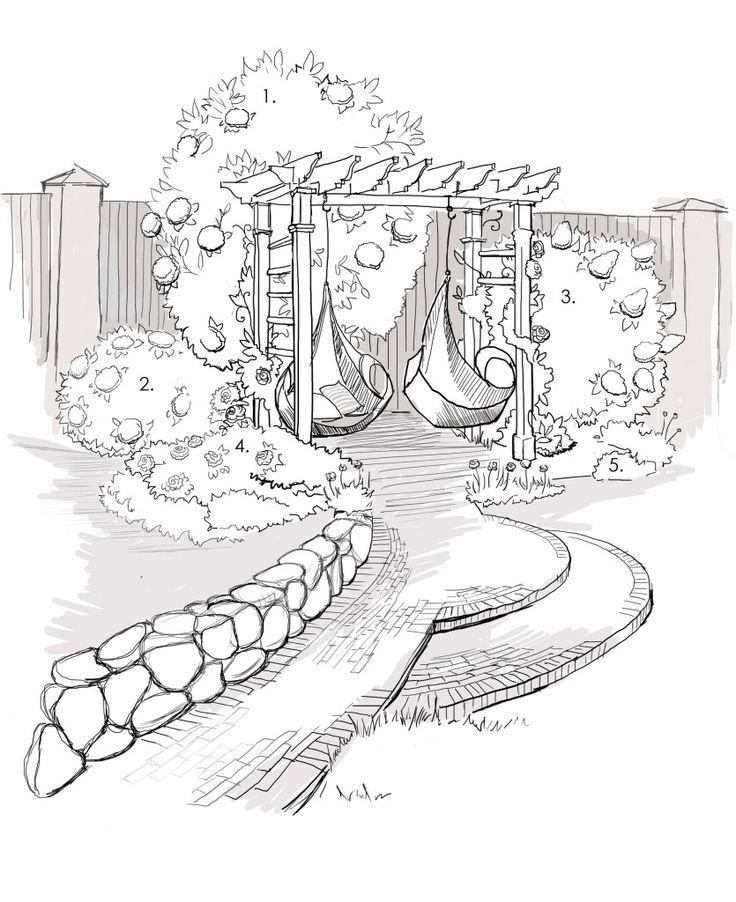 трубу картинки красивого сада карандашом сейчас былой популярности