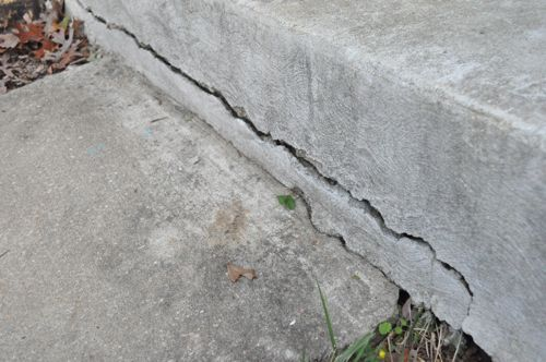 how to fix cracks in stenciled concrete