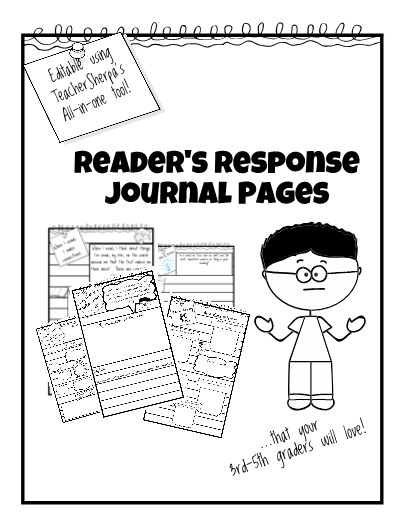 Turn those blank reader's response pages into these lively