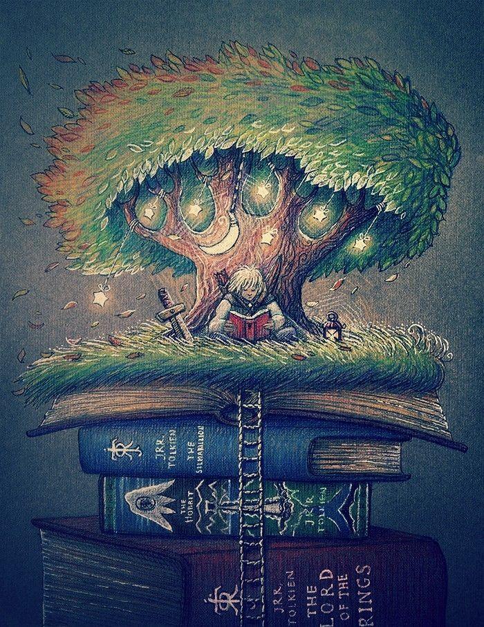 толкиен, трава, дерево, книги, сильмариллион, властелин колец, хоббит, профессор, tolkien