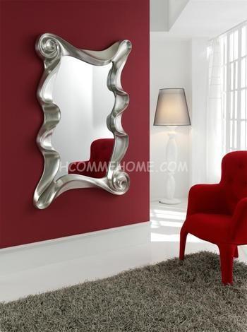 miroir design orta disponible en gris argent ou blanc laqu laqu - Miroir Mural Blanc Simili Cuir Strass