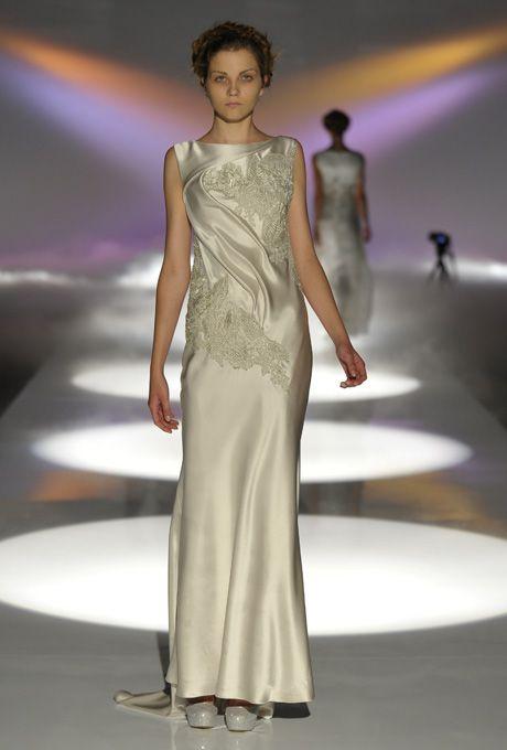 Brides.com: David Fielden - 2013. Gown by David Fielden  See more David Fielden wedding dresses in our gallery.