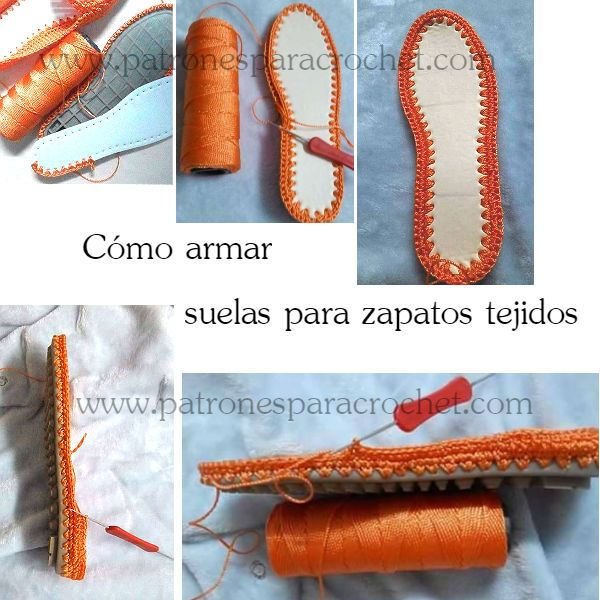 como preparar las suelas para zapatos tejidos