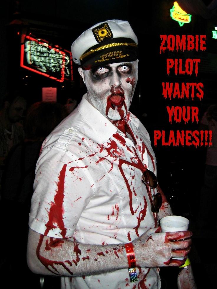 zombie pilot captain halloween costume - Zombies Pictures For Halloween