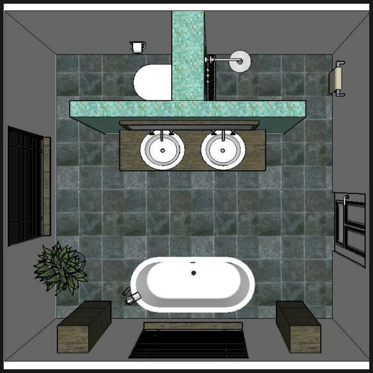 Ideen für die Badgestaltung #badezimmers #design # ideas #walldesig … #badezi…