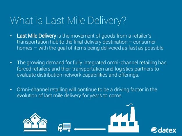 Last mile logistics has become a popular area of interest for retailers due to the growing demand for fully integrated omni-channel retailing. Evolving omni-channel needs have forced retailers to evaluate current transportation network capabilities and make adjustments accordingly