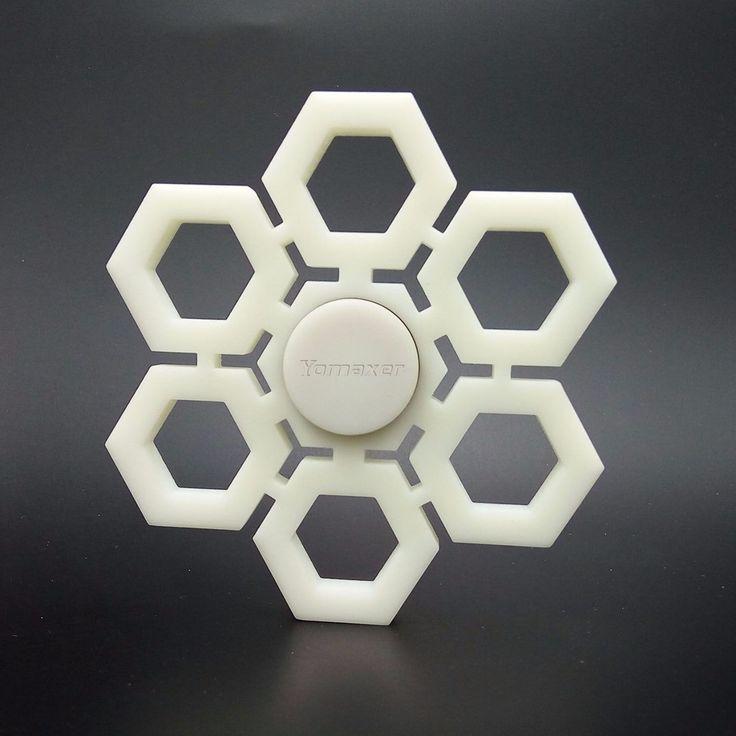 Yomaxer Fidget Spinner Toy 3D Printing Snowflake Shape EDC Focus Toy for ADHD Killing Time DIY toys, $20.99