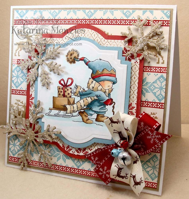 Watermelon Sugar - stunning card Katarina! Beautiful colouring on a lovely image and look at her Backgrounds, our very own Nordic Winter!