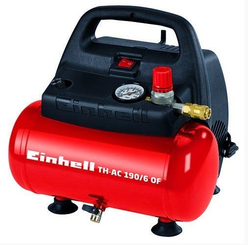 Einhell TH-AC 190/6 OF Kompresör  Art. Nr: 4020495 Einhell TH-AC 190/6 OF Hava Kompresörü 6 litrelik tankı ile hafif işlerde motoru başlatmadan ihtiyacınız olan basınçlı havayı sağlar.