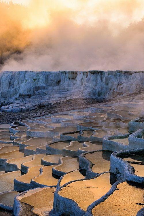 """Sunrise at the Pools by PhotonPhotography -Viktor Lakics"""