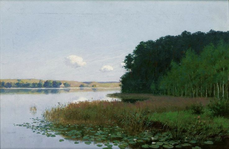 Lake with water lilies by Stanisław Witkiewicz, 1901 (PD-art/old), Muzeum Narodowe w Krakowie (MNK)