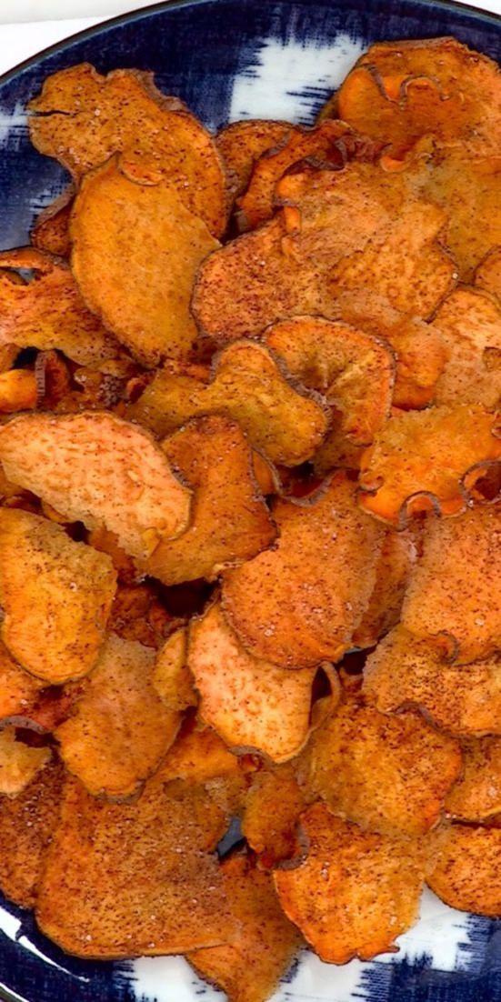 Wie man Zimt-Zucker-Süßkartoffelchips macht