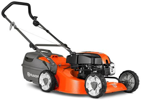 """A high performance lawn mower with a large 48cm (19"""") alloy cutting deck for long life and more efficient cutting plus a powerful DOV four stroke engine and four cutting blades to give a superior cut and finish to your lawn. Features include dual ball bearing wheels, comfort grip folding handles with quick action cam locks, safety zone starting, large plastic catcher and eight cutting heights. Comes complete with mulch insert."""