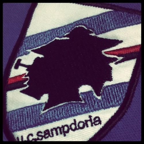 The famous Sampdoria crest. #Sampdoria