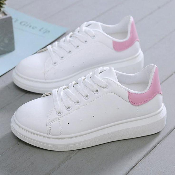 Nuevos zapatos de diseñador Mujer Cuñas Zapatillas de plataforma con cordones Tenis transpirables Tenis Feminino Casual Zapatillas gruesas Damas Zapatos Mujer – Negro 6   – Products