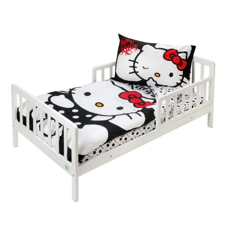 black hello kitty 3piece toddler bedding set