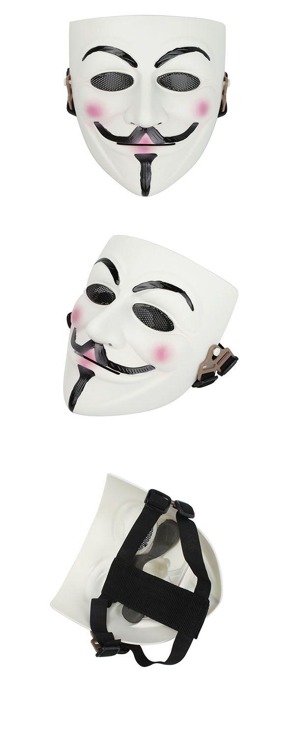 V for Vendetta Full Face Mesh Mask(White)