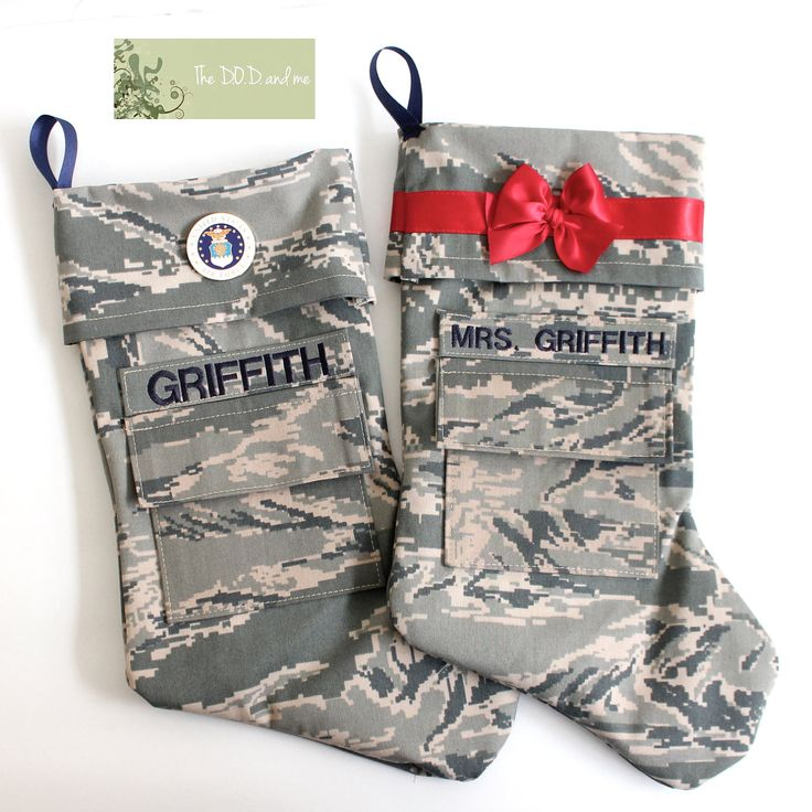Reserved Military Air Force Christmas Stocking. $40.00, via Etsy. (Mr. And Mrs. Beall)