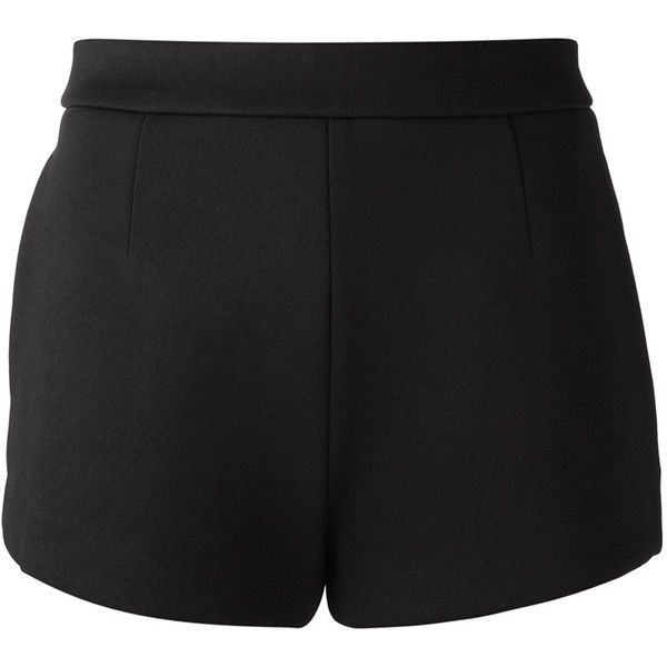 T BY ALEXANDER WANG Jersey Bonded Shorts (929.115 COP) ❤ liked on Polyvore featuring shorts, bottoms, short, pants, high-waisted shorts, spandex short shorts, lycra shorts, high rise shorts and high waisted short shorts