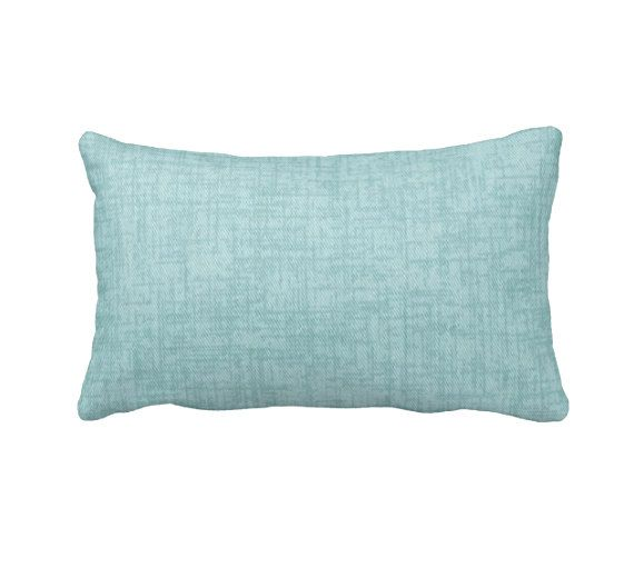Decorative Throw Pillows Sofa Light Blue by ReedFeatherStraw