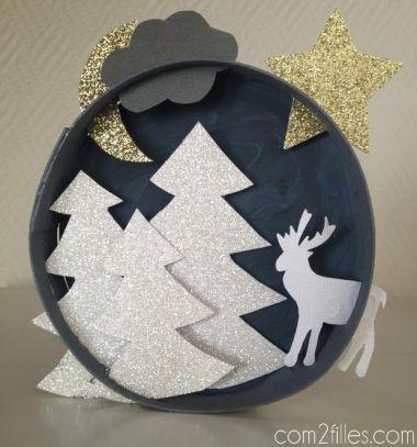 Easy DIY 3D paper winter scene // Térbeli karácsonyi tájkép medvesajtos dobozból // Mindy - craft tutorial collection // #crafts #DIY #craftTutorial #tutorial