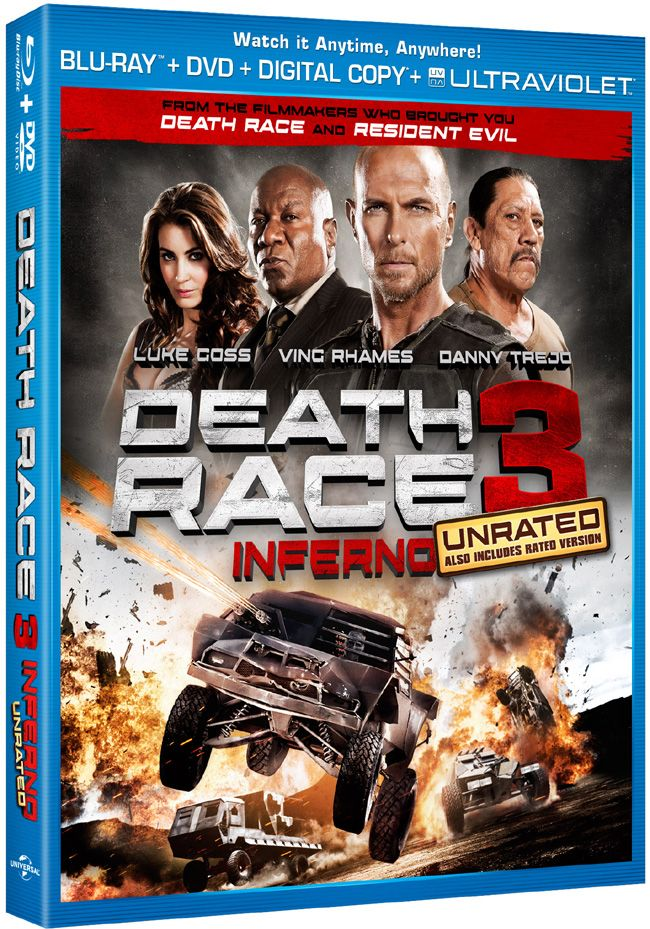 """Win a free Blu-ray and DVD combo pack to the home entertainment release of """"Death Race 3: Inferno"""" starring Luke Goss and Ving Rhames courtesy of HollywoodChicago.com! Win here: http://ptab.it/tq7m"""