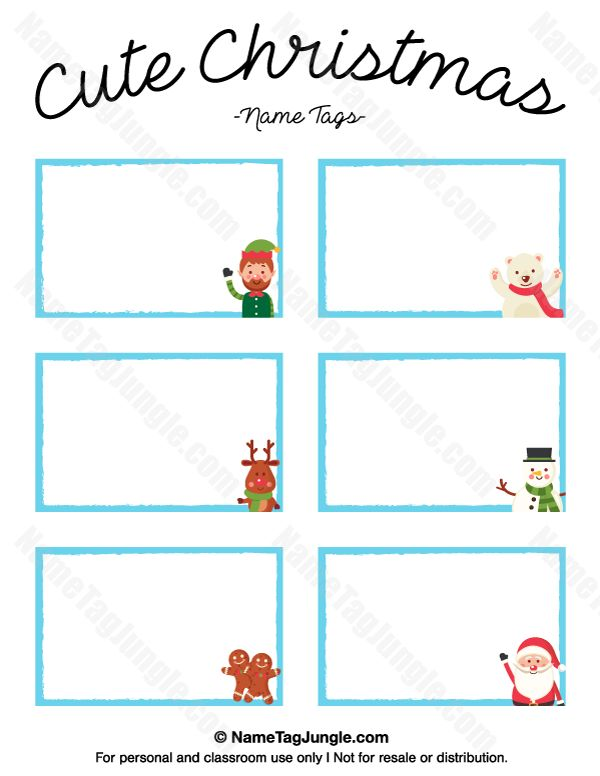 free printable cute christmas name tags the template can also be used for creating items like