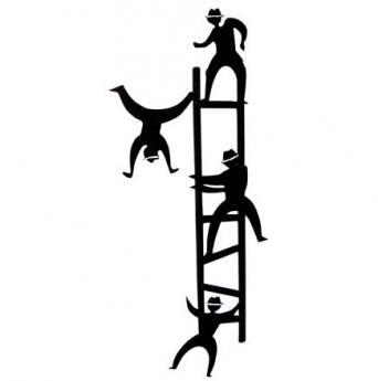 Aplique Escalera Acróbatas 50 cm H x 20 cm W $75.000