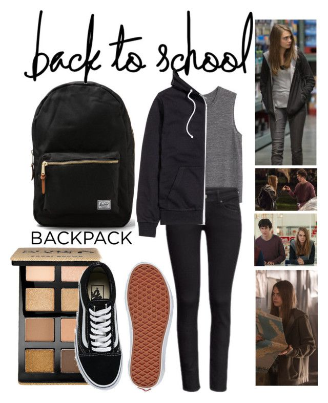 """Back to school- Margo Roth Spiegelman style"" by carniem ❤ liked on Polyvore featuring Herschel Supply Co., MANGO, Bobbi Brown Cosmetics, H&M and Vans"