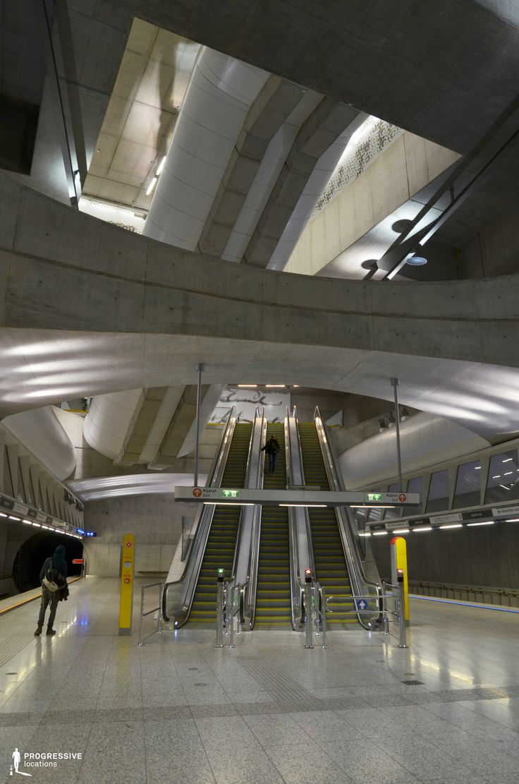 Locations in Budapest: Modern Metro Station