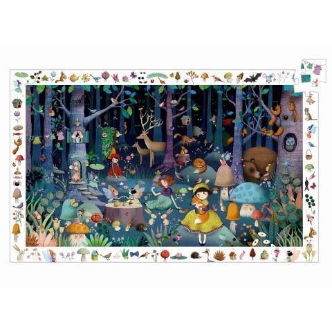 DJECO Vyhledávací puzzle - Pohádkový les 100 dílků