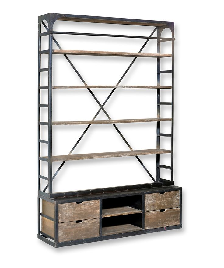 Industrial Hutch Style Bookshelf | Daily deals for moms, babies and kids