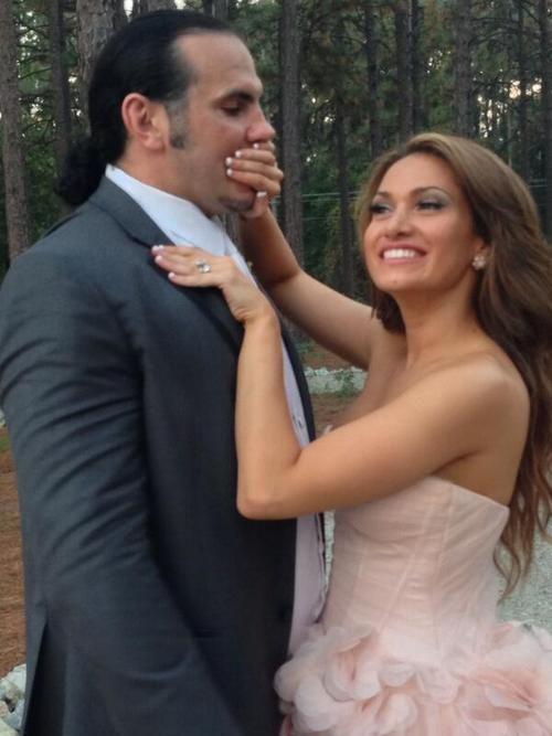 Matt Hardy & his bride Rebecca Reyes (Reby Sky)