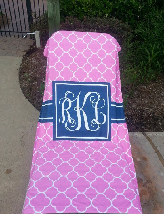 Our Summer line includes Personalized Beach Towels that are customizable with your choice of pattern, colors, and fonts! Made of super soft