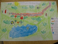 make maps to grandma's house after reading Little Red Riding Hood