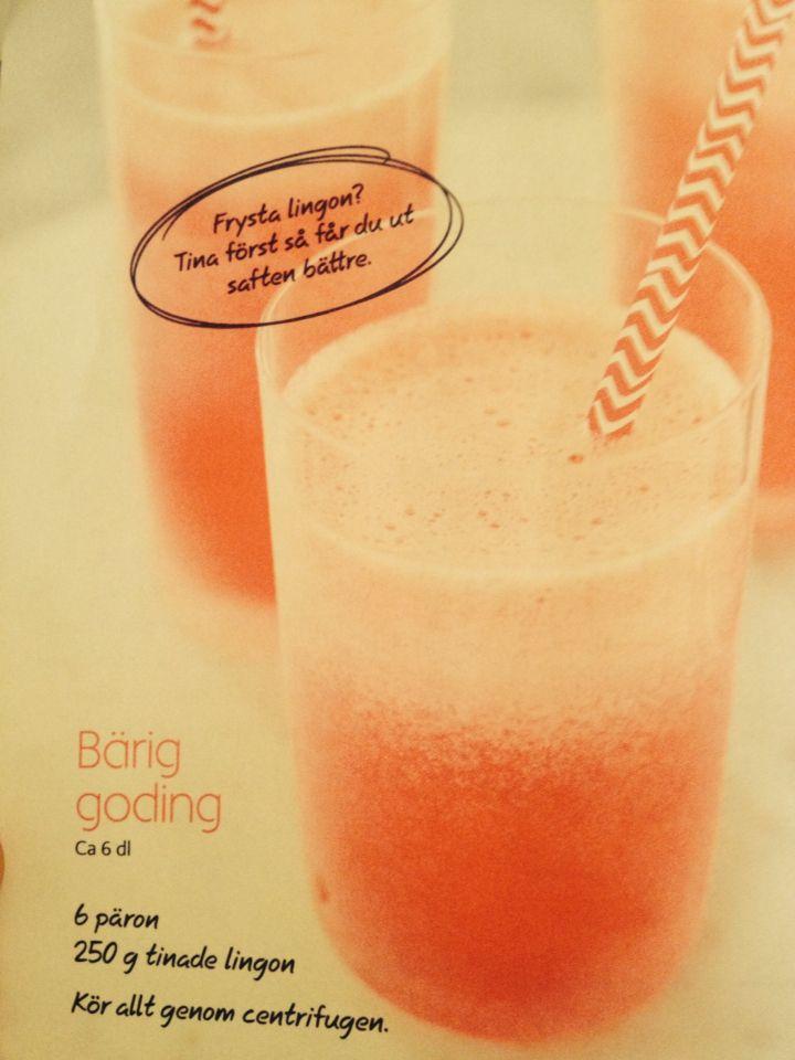 Päron lingon juice