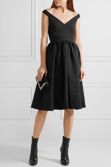 Preen by Thornton Bregazzi - Ted Off-the-shoulder Stretch-crepe Dress - Black - medium