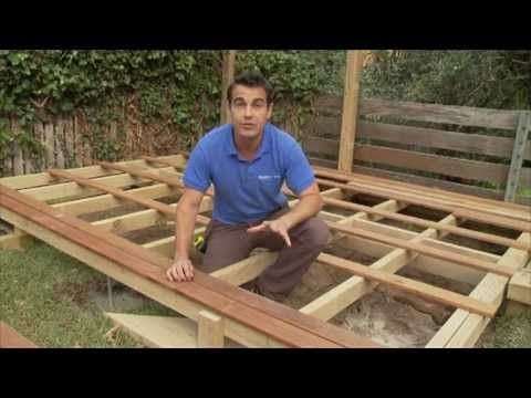 How to build a deck - DIY Video - For when I re-do my deck